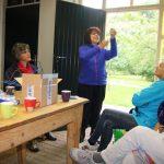 Sogetsu Branch Nederland; Buitenworkshop door Anne-Riet Vugts, Henriëtte Schalk, Karin van 't Westeinde en Rianne Machielse in het Arboretum Oudenbosch.